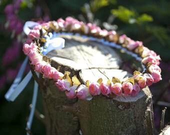 Spring wreath for beautiful hair