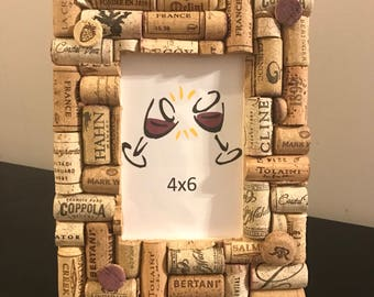 4x6 wine cork picture frame