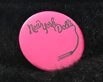 """New York Dolls 2.25"""" Button"""