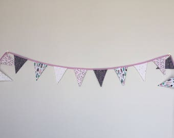 Purple and Grey Bunting