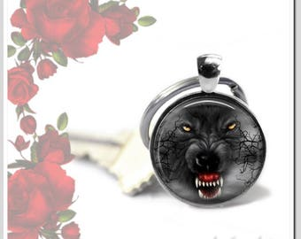 Key fob with 25 mm Cabochon bad Wolf SR25-005