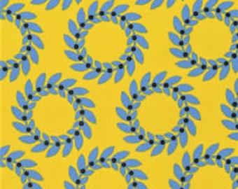 "Jane Sassaman - ""Scandia"" -Garland- Blue    FreeSpirit  Cotton Fabric"