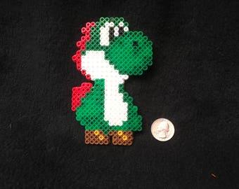 Perler Bead of Yoshi