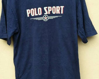 Vintage 90s Polo Sport Ralph Lauren Big logo RL Spell out unisex size L / Polo Jeans