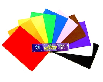 Craft Foam Self Adhesive Sheets,A4 10 Sheets Assorted Colours