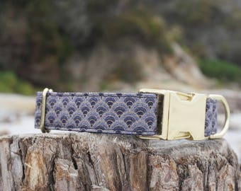 Haraki Dog Collar - Pet Collar - Gold Hardware