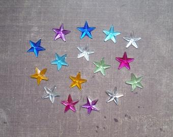 Set of 48 rhinestones form Star 1.3 cm mix colors