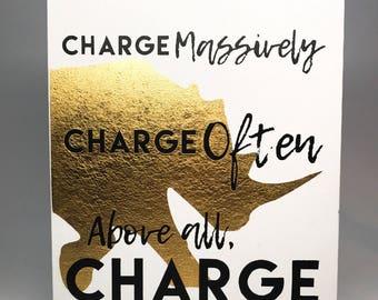 Charge! Rhino art