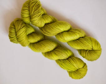Hand dyed merino high twist sock weight yarn