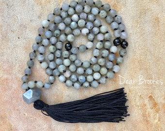 108 Bead Mala, Mantra Style Mala, Chan Luu, Yoga Necklace, Prayer Beads