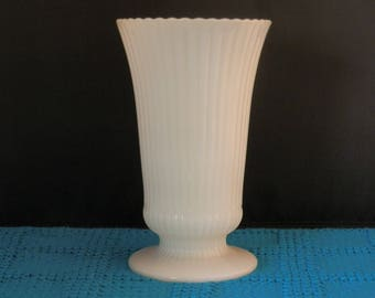 E.O. Brody  Milk Glass vase--Mint Condition--beautiful piece--m5000
