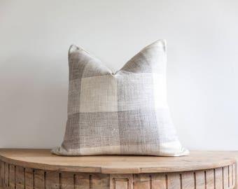 18X18 Gray Buffalo Check Pillow Cover