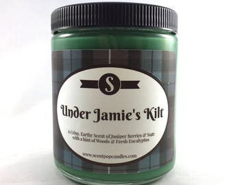 Under Jamie's Kilt, Outlander Inspired Soy Candle