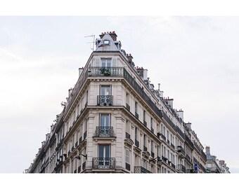 Paris Architecture Photography, Wall Art, Fine Art Print, French Home Decor, Hausmann Architecture, French Decor, Paris Apartment Building