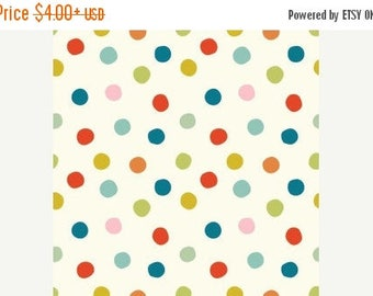 Sale Birch Organic Cotton Fabric - Mod Basics 3 - Pop Dots Multi