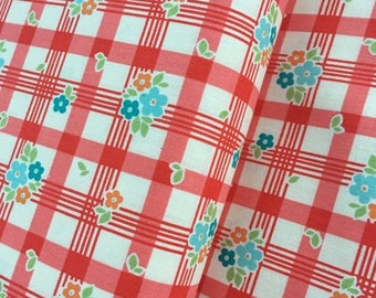 Sale Tablecloth in Red Cotton Fabric from the Road Trip Collection by Riley Blake