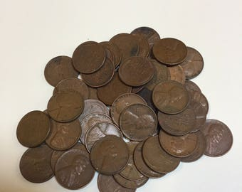 48 Wheat Pennies 1940-50's