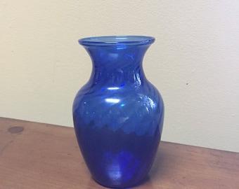 Cobalt Blue hand blown Vase