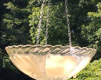Vintage Light Bird Feeder/Bath