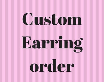 Custom Doll Earrings Order
