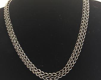 Fine Silver Roman chain - loop and loop