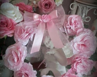 Crown paper roses, romantic and shabby chic