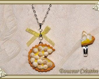 Set of necklace ring tart lemon meringue 105004