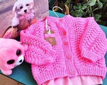 Handknitted Baby Girl Cardigan