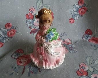 Vintage Enesco Happy Birthday Girl  Figurine