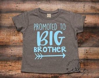 ON SALE Big Brother Shirt - Brother Tee - Big Bro Shirt - Promoted to Big Brother Shirt - Birth Announcement - Sibling Shirts
