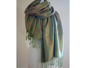 Silk Shawl with Paisley Pattern