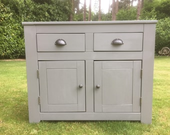 Hand painted modern sideboard in grey