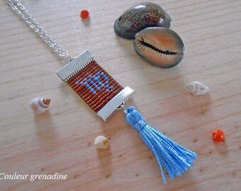 Woven necklace Virgo astrological, idea cadeauSaint Valentine, mother grandmother, Easter