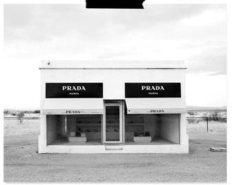 PRADA Marfa Print - Fashion Photography - Printable - Digital Download - Fashion Print - Black and white Art- Prada Wall Art - Home Decor