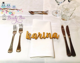 20 Pk   Personalised Wedding Place Cards   Guest Names    Laser Cut Names   Custom Wedding Signs   Wooden Place Names   Arcylic Place Names