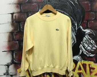 Vintage Lacoste Embroidered Logo Sweatshirt