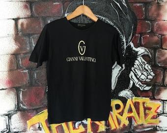 Vintage Gianni Valentino Embroidered Logo Tshirt
