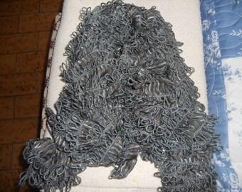 Knitted ruffle scarf wool katia sarong