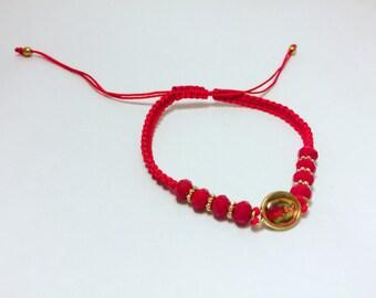 Virgin guadalupe macrame bracelet