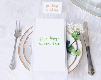Place and Table Cards / Stock Photography / Product Mockup / High Res File