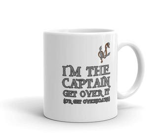 Funny sailing mug,funny fishing mug,Tea mug,coffee mug,drinking mug,11oz mug,15oz mug,angling mug,fishing gifts,I'm The Captain