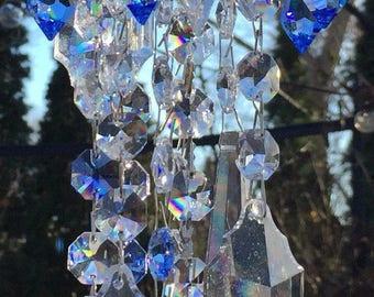 Garden Crystal Jewelry Windchime Blue Skies