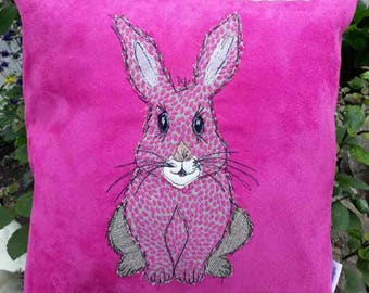 Handmade rabbit cushion