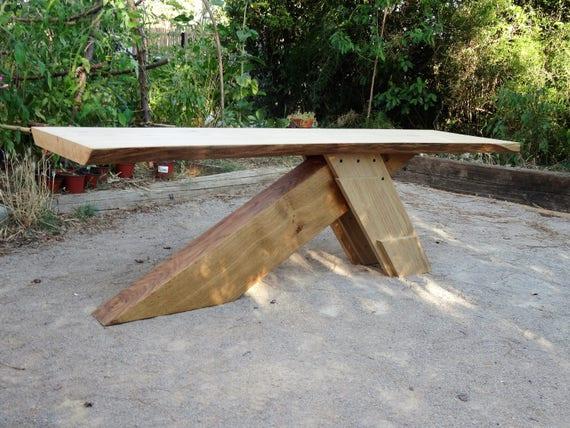 Table basse rustique - Tronc de bois ...