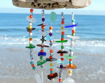 Spring Fling - Sea Glass Wind Chime