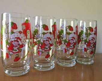 "Strawberry Shortcake ""It's the berries!"" Glass Tumbler - Set of 4"