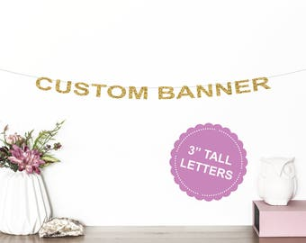 Custom Banner | Wedding Banner | Bachelorette Party | Name Banner | Baby Shower | Engagement Party | Birthday | Bridal Shower | Glitter