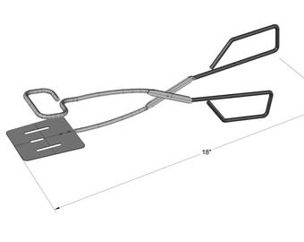 "Stainless Steel BBQ 18"" Tongs- KG 40730"