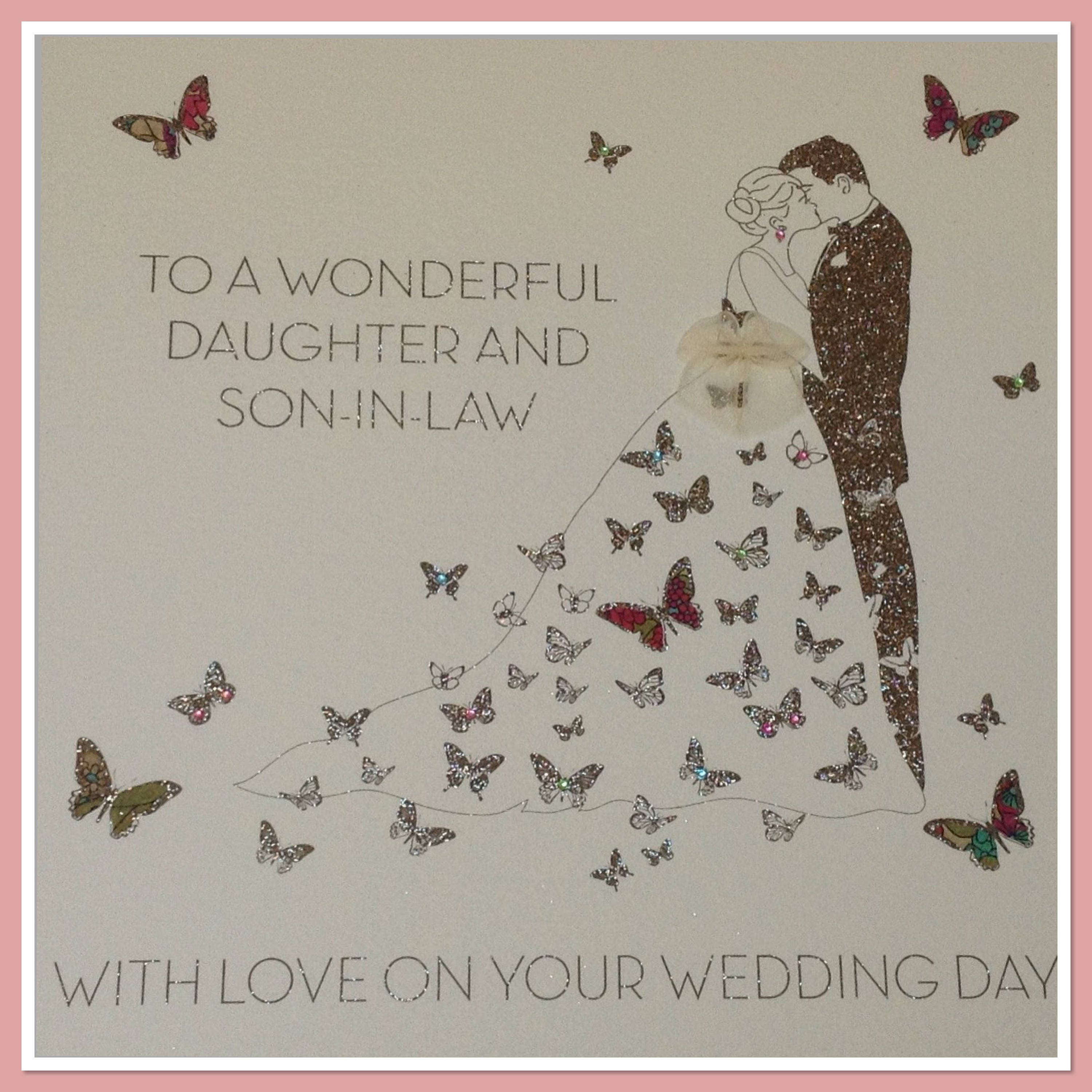 Daughter And Son In Law Extra Large Wedding Card