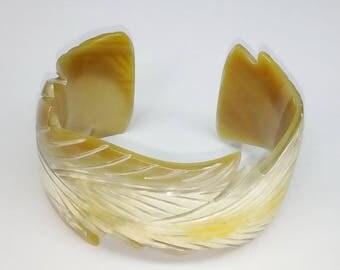 Horn bracelet  - Buffalo horn jewelry - Horn cuff - Horn jewelry KAI-3725